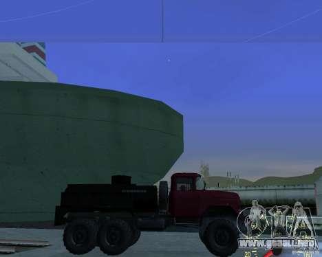 ZIL 131 petrolero para GTA San Andreas left
