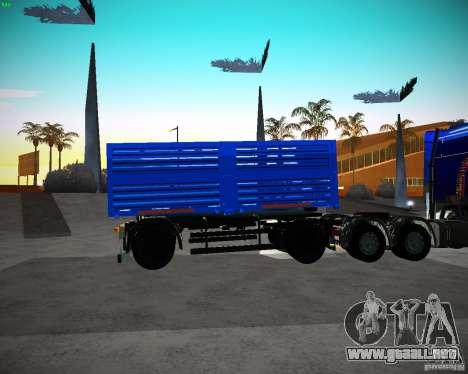 Remolque Kamaz 65117 grano para GTA San Andreas left