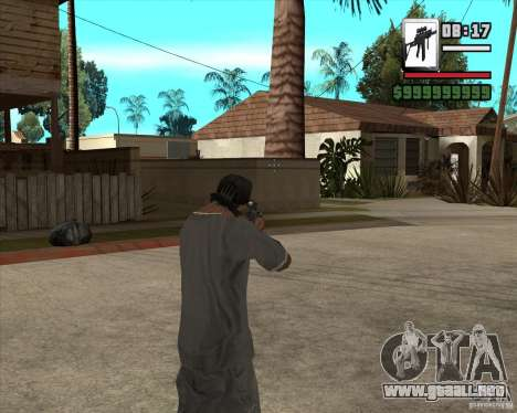 Sig550-m4 para GTA San Andreas tercera pantalla