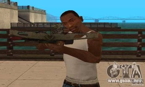 Ballesta de Black Ops para GTA San Andreas sucesivamente de pantalla