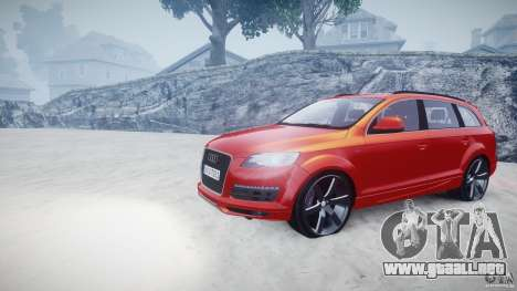 Audi Q7 LED Edit 2009 para GTA 4 vista hacia atrás