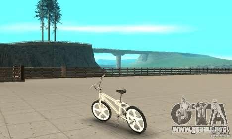 Skyway BMX para GTA San Andreas vista posterior izquierda