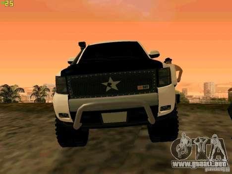 Chevrolet Silverado Final para GTA San Andreas vista hacia atrás