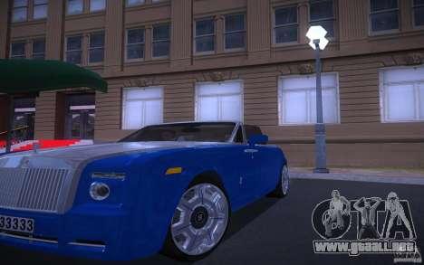 Rolls-Royce Phantom Drophead Coupe para GTA San Andreas vista hacia atrás