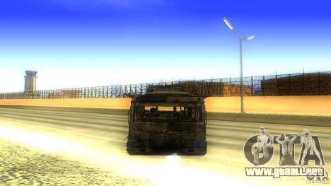 Frontline - MilBus para GTA San Andreas vista hacia atrás