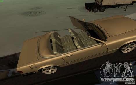 New Feltzer para GTA San Andreas vista hacia atrás