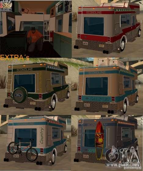 1986 Ford Econoline para visión interna GTA San Andreas