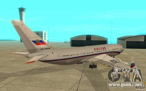 El IL-96-300 STC Rusia para la visión correcta GTA San Andreas