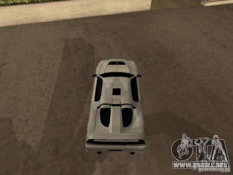 Infernus GT para GTA San Andreas vista posterior izquierda