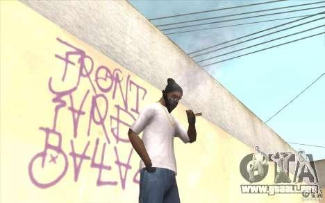 Guantes sin dedos v2 para GTA San Andreas tercera pantalla
