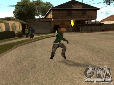 Lanzar cuchillas para GTA San Andreas