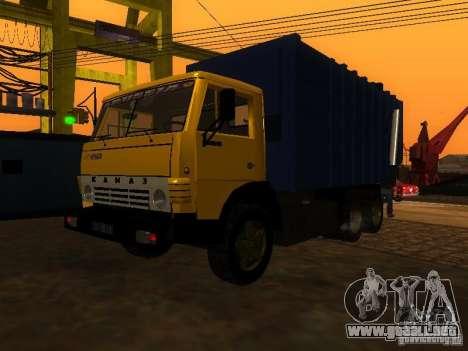 Camión KAMAZ 53212 basura para la visión correcta GTA San Andreas