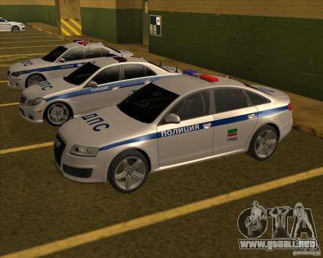 Audi RS6 2010 DPS para GTA San Andreas vista posterior izquierda