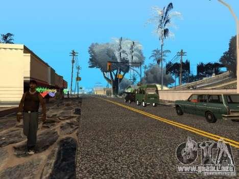 Víspera de año nuevo en la calle Grove para GTA San Andreas quinta pantalla