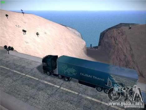 Remolque para el transporte del Scania R620 Duba para GTA San Andreas left