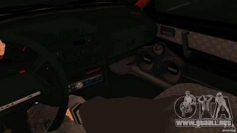 2113 VAZ para GTA San Andreas vista posterior izquierda
