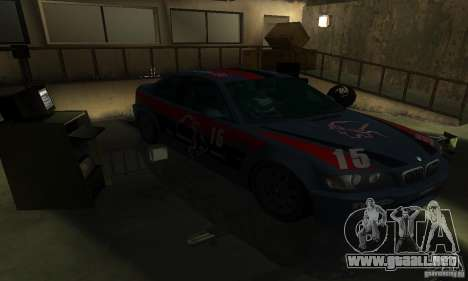 BMW M3 E46 TUNEABLE para la vista superior GTA San Andreas