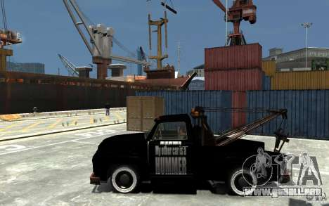 Black Towtruck para GTA 4 left