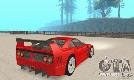 Ferrari F40 Competizione para GTA San Andreas left