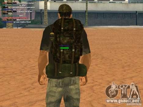 Military backpack para GTA San Andreas tercera pantalla