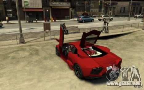 Lamborghini Reventon Coupe para GTA 4 Vista posterior izquierda