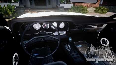 Ford Gran Torino 1975 v1.1 para GTA 4 vista hacia atrás