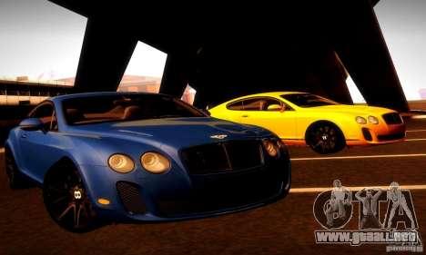 Bentley Continental Supersports para vista inferior GTA San Andreas