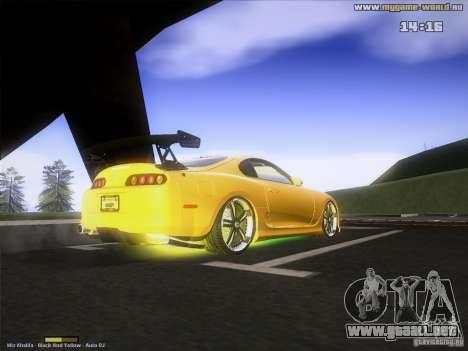 Toyota Supra v2 (MyGame Drift Team) para la visión correcta GTA San Andreas