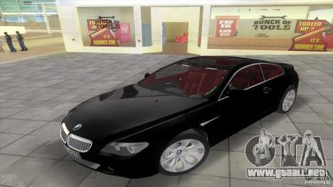BMW 645Ci para GTA Vice City visión correcta