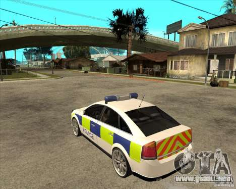 2005 Opel Vectra Police para GTA San Andreas left