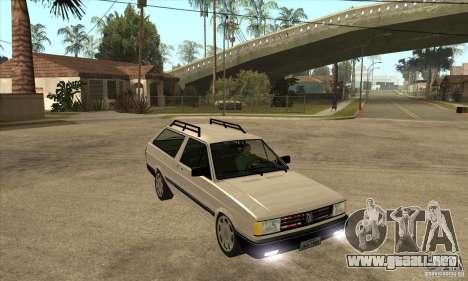 VW Parati GLS 1989 para GTA San Andreas vista hacia atrás