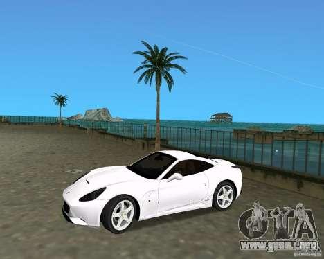 Ferrari California para GTA Vice City visión correcta