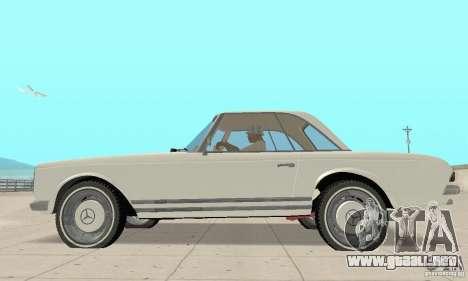 Mercedes-Benz 280SL (brillante) para GTA San Andreas vista posterior izquierda