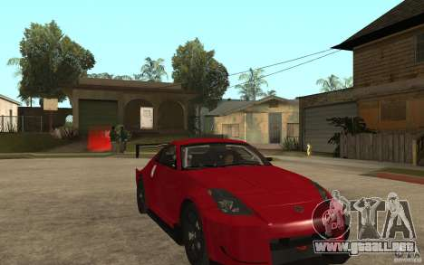 Nissan 350Z Supreme para GTA San Andreas vista hacia atrás