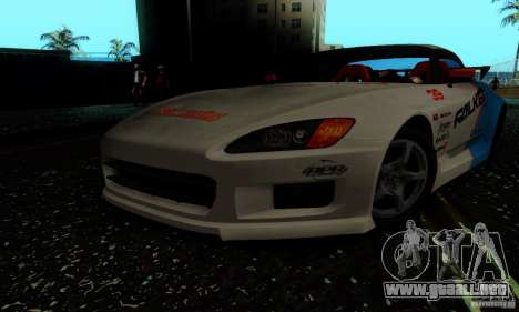 Honda S2000 Tunable para vista lateral GTA San Andreas
