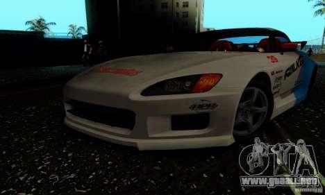 Honda S2000 Tunable para vista lateral GTA San Andreas
