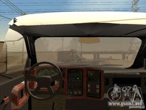 GMC 5500 2001 para GTA San Andreas vista hacia atrás