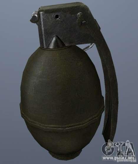 M61 Grenade para GTA San Andreas segunda pantalla
