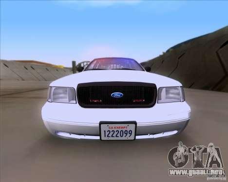 Ford Crown Victoria 2009 Detective para la visión correcta GTA San Andreas