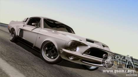 Shelby GT500 1969 para vista inferior GTA San Andreas