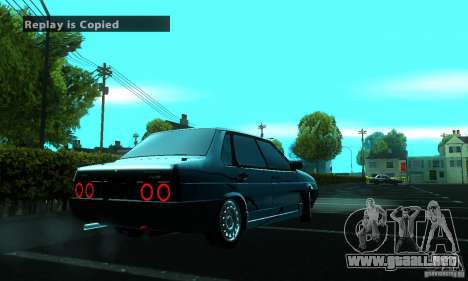 VAZ 21099 PROTOCOLO para GTA San Andreas vista hacia atrás