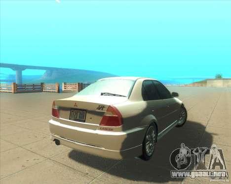 Mitsubishi Lancer Evolution VI 1999 Tunable para la vista superior GTA San Andreas