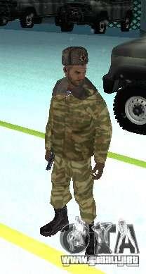 Dembele Covetskoj ejército para GTA San Andreas segunda pantalla