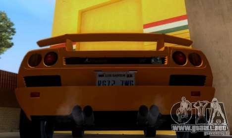 Lamborghini Diablo VTTT Black Revel para la visión correcta GTA San Andreas
