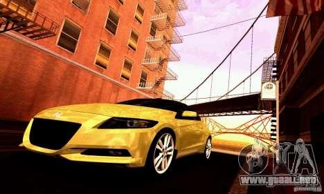 Honda CR-Z 2010 V2.0 para vista inferior GTA San Andreas