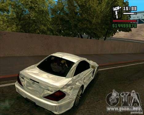 Mercedes-Benz SL65 AMG Black Series para GTA San Andreas vista posterior izquierda