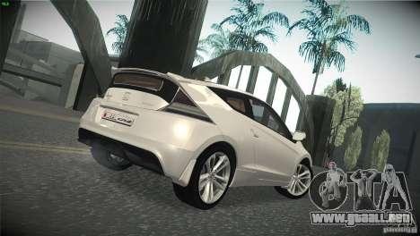 Honda CR-Z 2010 V1.0 para GTA San Andreas vista hacia atrás