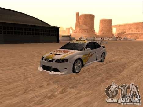 Vauxhall Monaro para las ruedas de GTA San Andreas