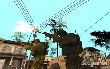SCAR FN MK16 para GTA San Andreas tercera pantalla