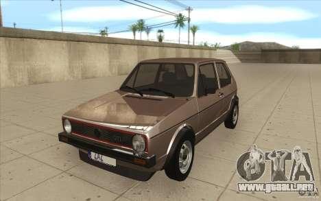 Volkswagen Golf Mk1 - Stock para GTA San Andreas